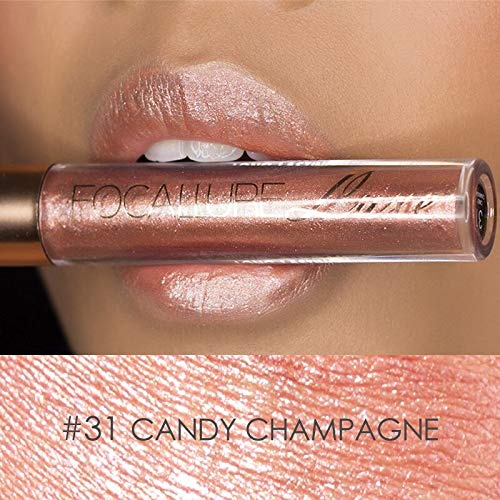 NOTE FOCALLURE Newest Long Lasting Glitter Lip Gloss Matte Tint Lips Batom Magic Colors Shimmer Lipstick Makeup Kit - Lip Color Shimmer