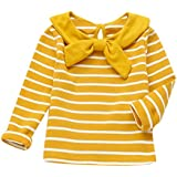Outtop(TM) Men's Oft Long Sleeve Striped Soft Tops Shirt Clothes - B07FDT4ZJ4