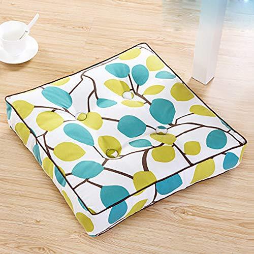 ZHANGJM Verdickt Perlenbaumwolle Sofa dämpfung Stuhl-pad, Quadratische Vintage floral Sitzabdeckung Tatami Verwenden sie auf Sessel Sofa Gemütlich Futon-A 45x45x8cm(18x18x3inch)