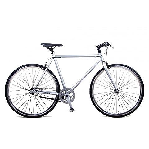 Vélo Homme Popal Fixed Gear 28 Pollici Frein sur le Guidon Argent 95% Assemblé