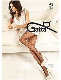 Gatta Fashion Tiffy 01 - 20den - modisch-gemusterte, transparente Party Feinstrumpfhose mit vielen kleinen Herzchen