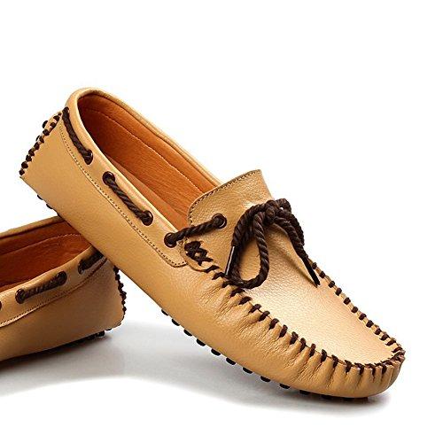Mocassins Chaussures style bateau homme Jaune