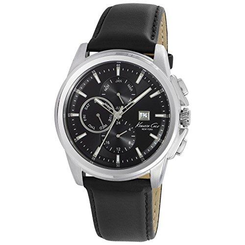 kenneth-cole-kc10025919-montre-homme-quartz-analogique-cadran-noir-bracelet-cuir-noir