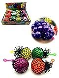 Lot de 3 - Balle anti-stress `Squash Ball` 7cm coloris assortis - Qualité COOLMINIPRIX®