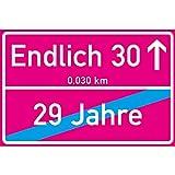 vanva Endlich 30 Jahre Ortsschild 30. Geburtstag Dekoration Schild Freund Freundin Geschenkidee Sie Geburtstagsparty Er Geschenke 30ter Partydeko Fotobox Requisite Pink
