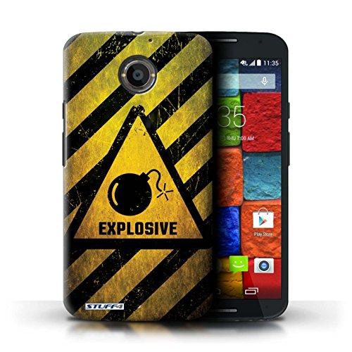 Kobalt® Imprimé Etui / Coque pour Motorola Moto X (2014) / Feu/Inflammable conception / Série Signes de Danger Explosif