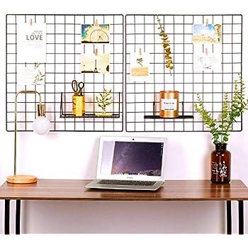 oucles raster foto wand set von 2 gitter wand metalldraht. Black Bedroom Furniture Sets. Home Design Ideas