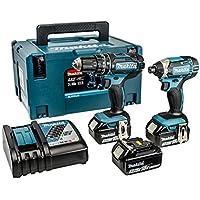 Makita DLX2131JX1 18 V Combi Drill Plus Impact Driver - Blue (2-Piece) by Makita