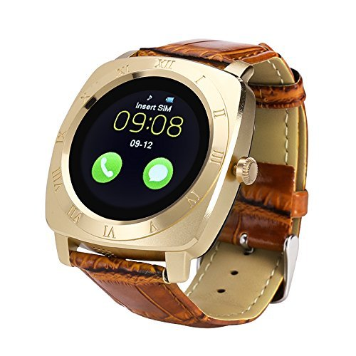 Samsung Wave Y S5380 Compatible X3 Bluetooth Smartwatch All Apple Iphone, Samsung, iPhone , Lenovo, XIOMI, REDMI Oppo, VIVO, Motorola,IOS, WindowsX3 All 3G,4G Phone with SIM Card Support | Android 5.1 OS | Facebook | Whatsapp | Activity Tracker | Fitness Band | Music | Camera with Video Recording | Micro SD card Support Rose Gold by vell-tech  available at amazon for Rs.2999