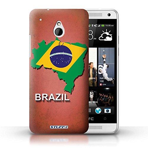 Kobalt® Imprimé Etui / Coque pour HTC One/1 Mini / grande-Bretagne conception / Série Drapeau Pays Brésil