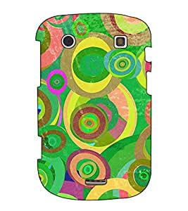 Fuson Designer Back Case Cover for BlackBerry Bold Touch 9900 :: BlackBerry Dakota :: BlackBerry Magnum (Round pattern theme)