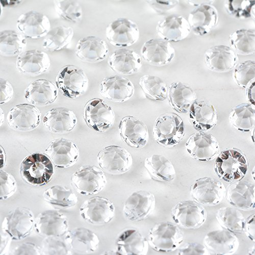 4000 Stück Acryl Diamant Konfetti Tabelle Scatters Hochzeit Party Dekoration 4,5 mm (Klar) -