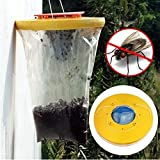 tinxs Nontoxic Disposable Flytrap Flies Mosquito Killer Pre-Baited Liquid Traps Pest Control Trapper Attracter