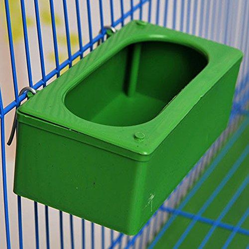 Hinmay Vogelfutter Füttern zum Aufhängen Wasser Futterstation für Samen Schüssel, für Papagei Ara Vogel Tauben Sittiche Nymphensittiche Finch Käfig, grün -