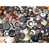 KosiKrafts 300g Of Art & Craft Play, Sewing Buttons, ASSORTED COLOURS And Sizes