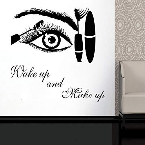 Wandtattoo Aufkleber Auge Wimpern Wimpern Extensions Augenbrauen Brauen Schönheitssalon Zitat Bilden Vinyl Aufkleber DIY Wandbilder 42X42CM