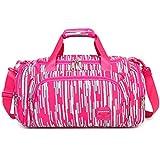 AOKE 23L bolso de Weekender de equipaje con estilo Duffle para niña 2017 nuevo color de rosa caramelo con regalo antirrobo