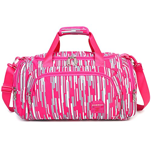 AOKE 23L Stilvolle Duffel Gepäck Weekender Tasche für Mädchen 2017 Neue Rose Candy Farbe mit Diebstahl Geschenk