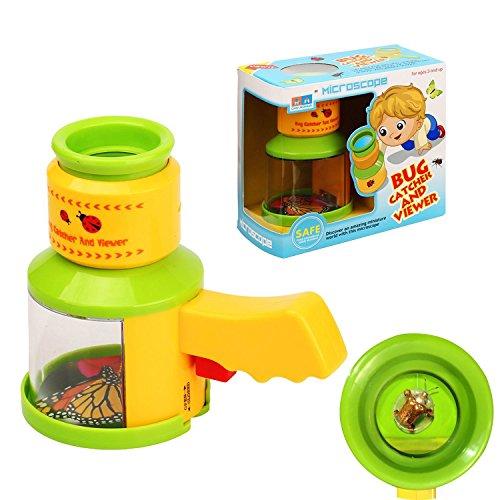AlleTechPlus Insektenfänger Betrachter Bug Catchers Kinder Mikroskop, Insektenlupe, Natürliche...