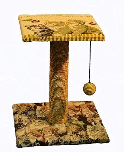 Kaxima Kratzbaum Katzenbaum Möbel Katze Kratzbaum Classic Drucken 50 * 30 * 54 cm Plüsch