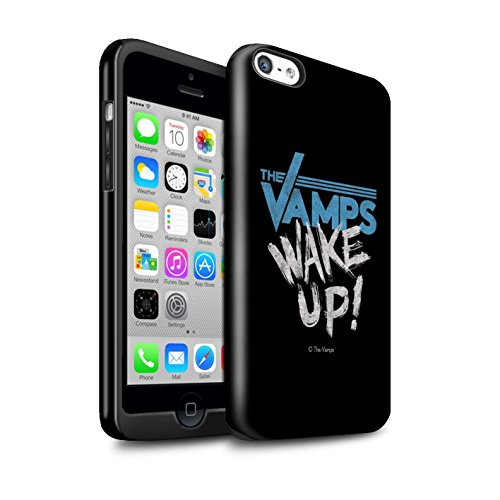 Offiziell The Vamps Hülle / Glanz Harten Stoßfest Case für Apple iPhone 5C / Pack 6pcs Muster / The Vamps Graffiti Band Logo Kollektion Aufwachen!