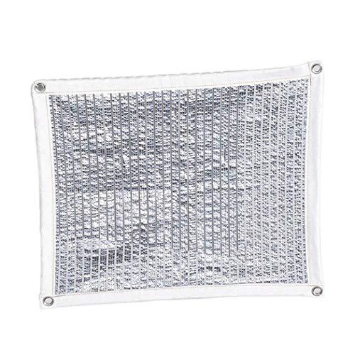 Preisvergleich Produktbild 80% Aluminet Schatten-Netz 6.6ftx6.6ft Sonnencreme Sonne reflektieren Schatten Tuch Draussen Terrasse Party Sonnencreme Überdachung zum Gewächshaus Sonnensegel Markise Überdachung,  Mehrere Größen