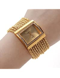 Reloj de pulsera Lightinthebox para mujer, estilo diamante (dorado)