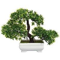 DioKlen Mini árbol de Bonsai Artificial para Decoración de Plantas, no se descolora, sin regadero, para Oficina o casa