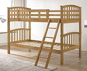 Barbican Oak Hardwood Bunk Bed