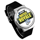 Shuofeng Tech Fortnite Watch Fortnite Juego de Tiro atlético Noche luz Touch LED Creativo electrónico Estudiante Reloj para niños y niñas (One, 25)