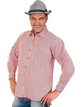 Oktoberfest Bayernhemd Karohemd Bayern Hemd Bavaria rot/weiss Gr. M, L, XL, XXL