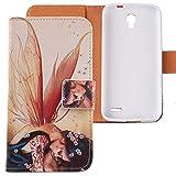 Lankashi Housse Case Coque Etui Flip Cuir Cover Protection Pour Alcatel One Touch Pop...
