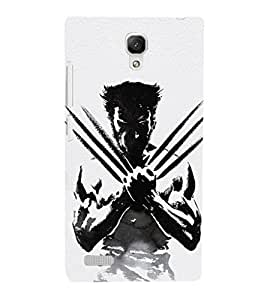 EPICCASE Wolverino Mobile Back Case Cover For Xiaomi Redmi Note (Designer Case)