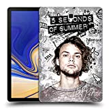 Head Case Designs Offizielle 5 Seconds of Summer Vandale Ashton Solo Ruckseite Hülle für Samsung Galaxy Tab S4 10.5 (2018)