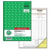 Sigel SD131 Rechnungen fortlaufend nummeriert, A5, 50 Originale//50 Kopien, selbstdurchschreibend