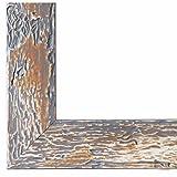 Bilderrahmen Parma Grau 3,9 - LR - 50 x 60 cm - 500 Varianten - Alle Größen - Handgefertigt - Galerie-Qualität - Antik, Barock, Landhaus, Shabby, Modern - Fotorahmen Urkundenrahmen Posterrahmen