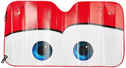 SYMTOP Windschutzscheibe Sonnenschutz Visier Auto Cars Cartoon Augen Universal-Rot