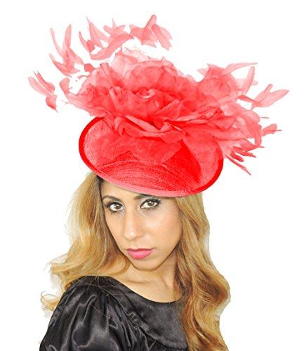 Superbe stenbok Grand Ascot Derby Bibi Chapeau–avec bandeau–Disponible en 30couleurs Rouge - Rouge