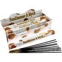 Räucherstäbchen, Weihrauch & Myrrhe, 1 Box mit 6 Packungen (insgesamt 120 Räucherstäbchen) preisvergleich bei billige-tabletten.eu