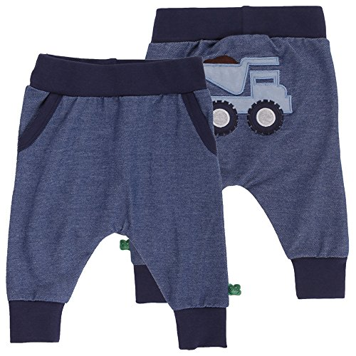 Fred's World by Green Cotton Baby-Jungen Hose Bulldozer Denim Pants Blau (Denim 019402601), 68