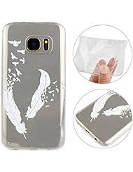 "Housse Samsung Galaxy S7,Rosa Schleife® étui Transparente Ultra Slim Coque protecteur en silicone TPU Gel Clair Cover pour Samsung Galaxy S7(5.1"")"