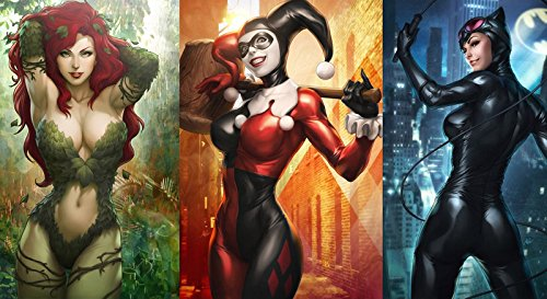 TST INNOPRINT CO Harley Quinn Catwoman Poison Ivy Comics Hot Girl 20x 35Poster (Hot Poison Ivy)
