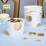 Simplydeko Pappbecher | Candy Bar Snack Cups | Schalen für Eis oder Fingerfood | für Party, Hochzeit, Kindergeburtstag (Metallic blau)