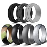 Emperor Tools Silicone Wedding Ring for Men, 7 Silicone Rubber Bands Ring 6