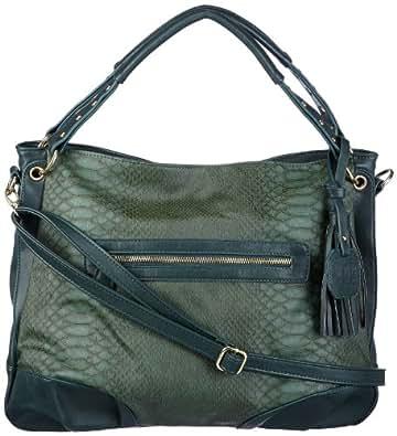 Friis & Company Detroit Vandellas Shoulder Bag 1340608-144, Damen Henkeltaschen, Grau (Dark Green), 33x41x12 cm (B x H x T)