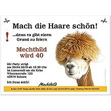 Einladungskarten Für Geburtstage Hochzeiten Silvesterfeiern Uvm Mit  Wunschtext, 60 Karten   17 X 12 Cm
