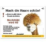 Geburtstagseinladungen Mach die Haare schön - Personalisiert nach Ihren Wünschen, 20 Karten - 21 x 14,8 cm DIN A5