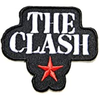 3 x 2.75THE CLASH Red Star Band Heavy Metal Rockabilly Rock Punk Logo jacket T shirt Patch Iron on Embroidered music patch by Tourlesjours by Tour Les Jours - The Clash Punk Band