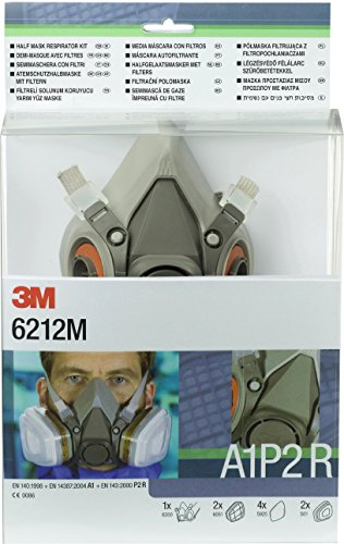 3M 6212M Pack de media máscara reutilizable 6200 A1P2 R listo para us