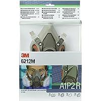 3M 6212M Pack de media máscara reutilizable 6200 A1P2 R listo para usar (6051 A1 + 5925 P2R), Certificado de seguridad EN